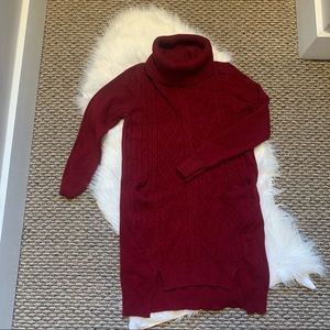 Simply Couture Red Sweater Dress Size Small